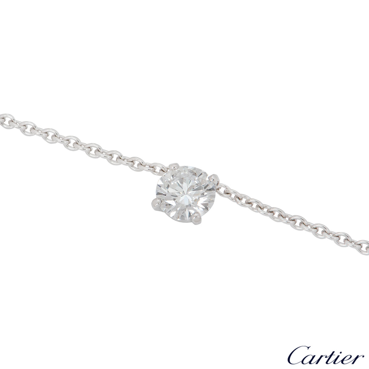 Cartier White Gold Diamond Necklace 0.80ct E/VS2